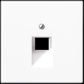 Крышка для одинарной телефонной и компьютерной розетки UAE, белая LS969-1UAWW