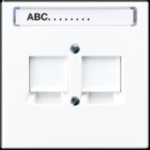 Крышка для модульных штекерных гнезд AMP  3 категории, белая LS969-2NWEWW