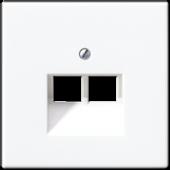 Крышка для двойной телефонной и компьютерной розетки UAE, белая LS969-2UAWW