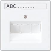 Крышка универсальная для телефонной и компьютерной розетки, белая LS969-3NAUAWW