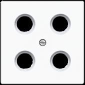 Крышка для SAT-TV-розетки, белая LS990-4SAT1WW