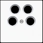 Крышка для SAT-TV-розетки, белая LS990-4SAT2WW