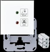 Накладка с линзой для индикаторных лампочек и надписями, белая LS994-2KO1WW