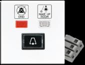 Накладка с линзой для индикаторных лампочек и надписями, с кнопкой звонка, белая LS994-2KO9KTWW