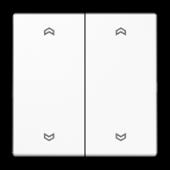 Клавиши для сдвоенной кнопки BCU, белые LS995MPWW