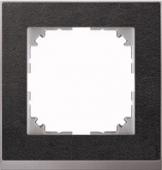 M-Pure D?cor 1-постовая рамка, нерж.сталь/цвет алюминия MTN4010-3646