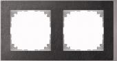 M-Pure D?cor 2-постовая рамка, венге/цвет алюминия MTN4020-3671