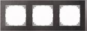 M-Pure D?cor 3-постовая рамка, нерж.сталь/цвет алюминия MTN4030-3646