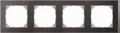 M-Pure D?cor 4-постовая рамка, нерж.сталь/цвет алюминия MTN4040-3646