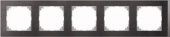 M-Pure D?cor 5-постовая рамка, нерж.сталь/цвет алюминия MTN4050-3646