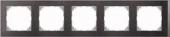 M-Pure D?cor 5-постовая рамка, венге/цвет алюминия MTN4050-3671