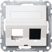 Наклонная плата для Keystone RJ45 антрац MTN4568-0414