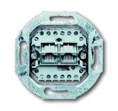 Механизм 2-постовой телефонной розетки 8/8 полюсов, раздельно, RJ 11/12; RJ 45; ISDN, категория 3 215