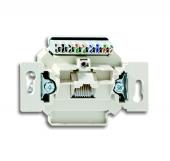Механизм 1-постовой компьютерной/телефонной розетки UAE, 8 полюсов, RJ45, категория 6е, неэкранированная, до 250 МГц 0221-507