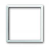 Плата центральная (накладка) для механизма светоиндикатора 2062 U, серия impuls, цвет альпийский белый 1716-74