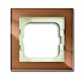 Рамка 1-постовая 1721-283, серия axcent, цвет бронзовое стекло 1721-283