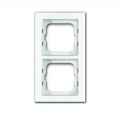 Рамка 2-постовая, серия axcent, цвет белое стекло 1722-280