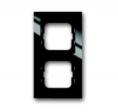 Рамка 2-постовая, серия axcent, цвет чёрный 1722-281