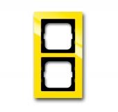 Рамка 2-постовая, серия axcent, цвет жёлтый 1722-285