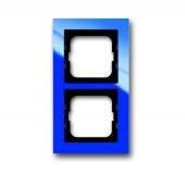 Рамка 2-постовая, серия axcent, цвет синий 1722-288