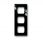 Рамка 3-постовая, серия axcent, цвет чёрный 1723-281