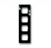 Рамка 4-постовая, серия axcent, цвет чёрный 1724-281