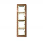 Рамка 4-постовая 1724-283, серия axcent, цвет бронзовое стекло 1724-283