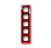 Рамка 5-постовая, серия axcent, цвет красный 1725-287