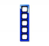 Рамка 5-постовая, серия axcent, цвет синий 1725-288
