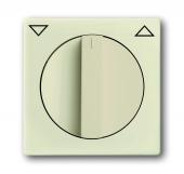 Плата центральная с поворотной ручкой, с маркировкой, для механизма выключателя жалюзи 2712/2713 U и 2722/2723 U, серия solo/future, цвет savanne/слоновая кость 1740-82