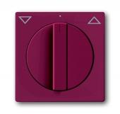 Плата центральная с поворотной ручкой, с маркировкой, для механизма выключателя жалюзи 2712/2713 U и 2722/2723 U, серия solo/future, цвет toscana/красный 1740-87