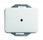 Плата центральная для вывода кабеля, с компенсатором натяжения кабеля, серия alpha nea, цвет белый матовый 1749-24