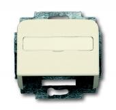 Плата центральная (корпус) с суппортом для коммуникационных разъёмов и цоколей DCS от 1850 EB до 1876 EB, серия Busch-Duro 2000 SI, цвет слоновая кость 1758-212