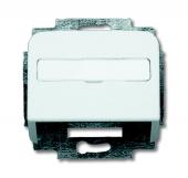 Плата центральная (корпус) с суппортом для коммуникационных разъёмов и цоколей DCS от 1850 EB до 1876 EB, серия Reflex SI, цвет альпийский белый 1758-214