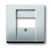 Плата центральная (накладка) для механизмов UAE/TAE, для 0247 и 0248, серия pur/сталь 1766-866