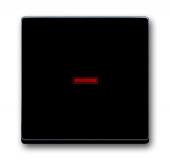 Клавиша для 1-клавишных выключателей/переключателей/кнопок, красная линза, Impressivo, антрацит 1789-81