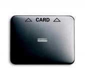 Плата центральная (накладка) для механизма карточного выключателя 2025 U, серия alpha nea, цвет платина 1792-20-101
