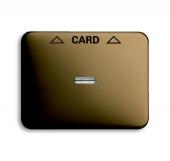 Плата центральная (накладка) для механизма карточного выключателя 2025 U, серия alpha nea, цвет бронза 1792-21-101
