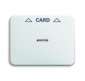 Плата центральная (накладка) для механизма карточного выключателя 2025 U, серия alpha nea, цвет белый матовый 1792-24-101
