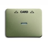 Плата центральная (накладка) для механизма карточного выключателя 2025 U, серия alpha exclusive, цвет палладий 1792-260-101