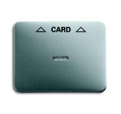 Плата центральная (накладка) для механизма карточного выключателя 2025 U, серия alpha exclusive, цвет титан 1792-266-101