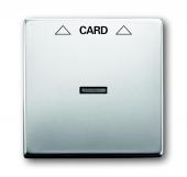 Плата центральная (накладка) для механизма карточного выключателя 2025 U, серия pur/сталь 1792-866