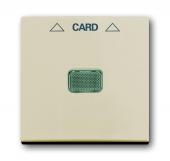Накладка (центральная плата) для механизма карточного выключателя 2025 U, Basic 55, слоновая кость 1792-92-507