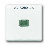 Накладка (центральная плата) для механизма карточного выключателя 2025 U, Basic 55, альпийский белый 1792-94-507