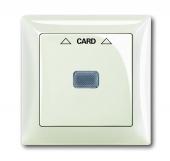 Плата центральная (накладка) для механизма карточного выключателя 2025 U, серия Basic 55, цвет chalet-white 1792-96-507