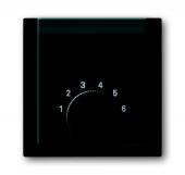 Плата центральная (накладка) для механизма терморегулятора (термостата) 1094 U, 1097 U, серия impuls, цвет чёрный бриллиант 1794-71