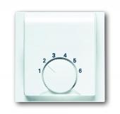 Плата центральная (накладка) для механизма терморегулятора (термостата) 1094 U, 1097 U, серия impuls, цвет альпийский белый 1794-74