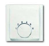 Плата центральная (накладка) для механизма терморегулятора (термостата) 1094 U, 1097 U, серия impuls, цвет белый бархат 1794-774