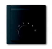 Плата центральная (накладка) для механизма терморегулятора (термостата) 1094 U, 1097 U, серия impuls, цвет чёрный бархат 1794-775