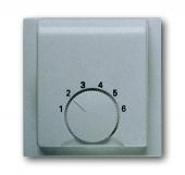 Плата центральная (накладка) для механизма терморегулятора (термостата) 1094 U, 1097 U, серия impuls, цвет серебристый металлик 1794-783